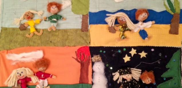 Textilkurs Klasse 10 stellt Arpilleras her