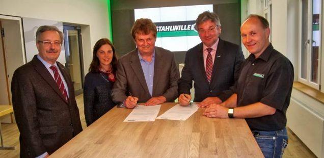 Kooperationsvertragsunterzeichnung STAHLWILLE - FBR am 02.05.2017