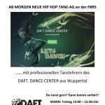 ACHTUNG!!!! START VERSCHOBEN!! NEUE HIP HOP TANZ-AG an der FBRS